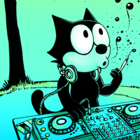 Felix the cat on the mix